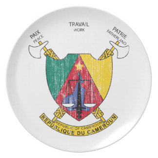 Cameroon Coat Of Arms Plate