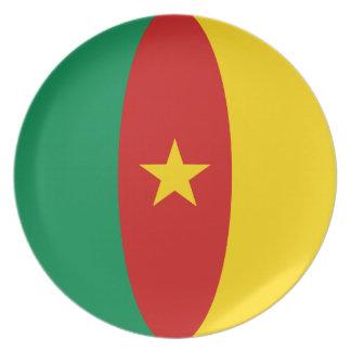Cameroon Fisheye Flag Plate