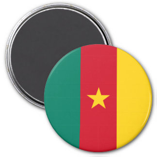 Cameroon Flag 3 Inch Round Magnet