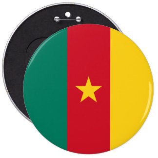 Cameroon Flag 6 Inch Round Button