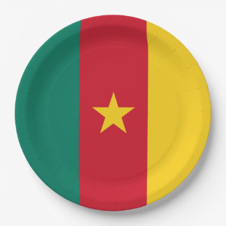 Cameroon Flag 9 Inch Paper Plate