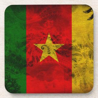Cameroon Flag Beverage Coasters