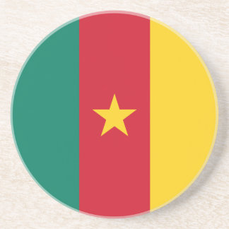 Cameroon Flag Beverage Coasters
