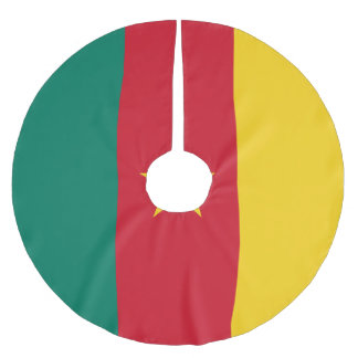 Cameroon Flag Brushed Polyester Tree Skirt