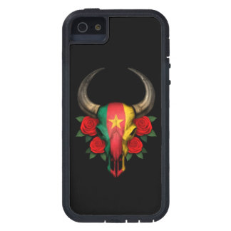 Cameroon Flag Bull Skull with Red Roses iPhone 5 Covers