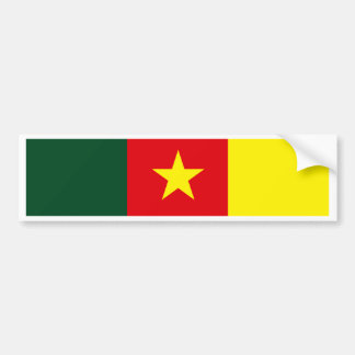 Cameroon Flag Bumper Sticker