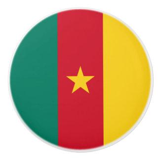 Cameroon Flag Ceramic Knob