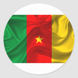 Cameroon Flag Classic Round Sticker