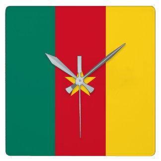 Cameroon Flag Clocks