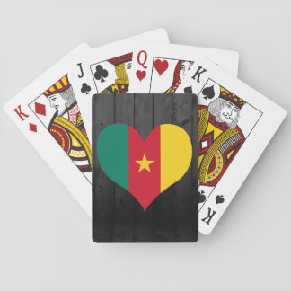 Cameroon flag colored poker deck