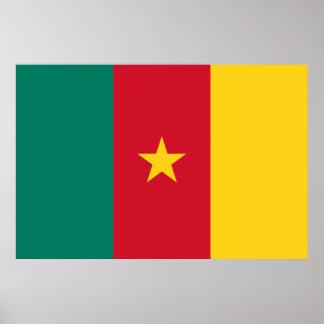 Cameroon Flag Design Poster