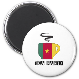 Cameroon Flag Designs 2 Inch Round Magnet