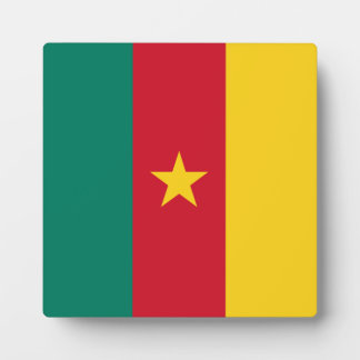 Cameroon Flag Display Plaque