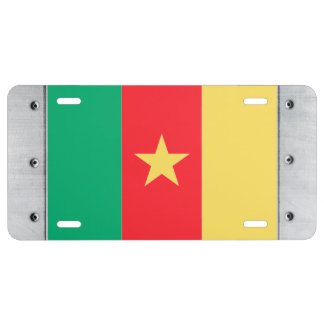 Cameroon Flag License Plate