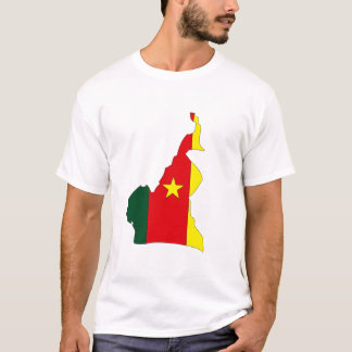 Cameroon flag map T-Shirt