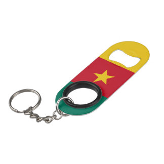 Cameroon Flag Mini Bottle Opener