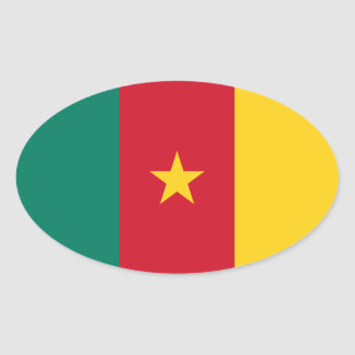 Cameroon Flag Oval Sticker