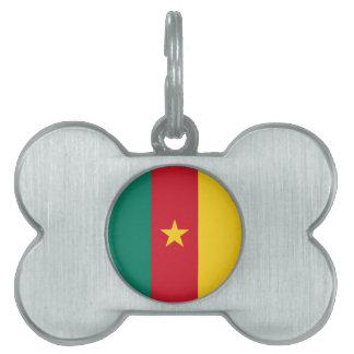 Cameroon Flag Pet ID Tag