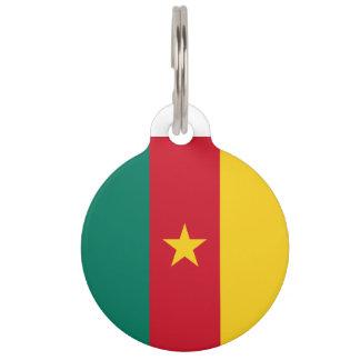 Cameroon Flag Pet Nametag