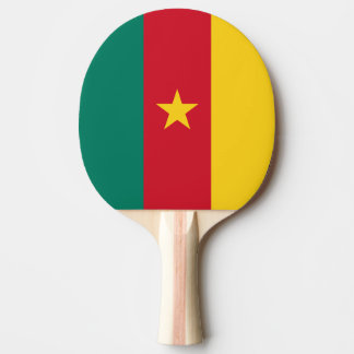 Cameroon Flag Ping Pong Paddle
