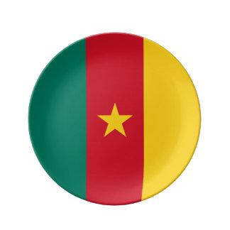 Cameroon Flag Porcelain Plates