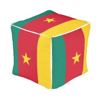 Cameroon Flag Pouf