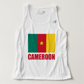 Cameroon Flag Red Text Tank Top