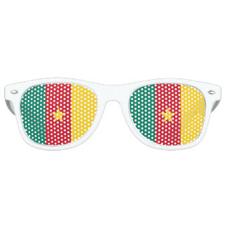 Cameroon Flag Retro Sunglasses