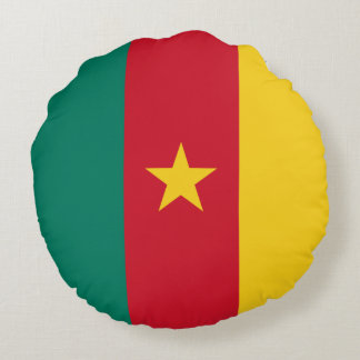 Cameroon Flag Round Pillow