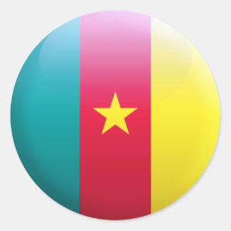 Cameroon Flag Round Sticker