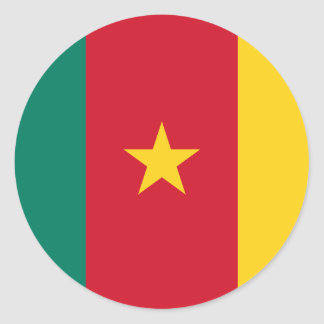 Cameroon Flag Round Stickers