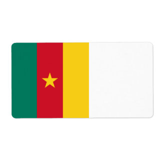 Cameroon Flag Shipping Label