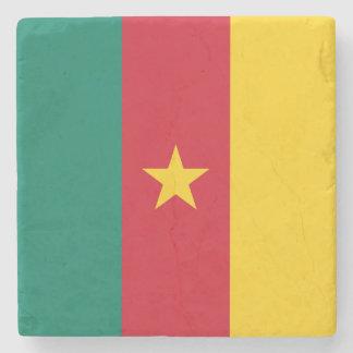 Cameroon Flag Stone Coaster