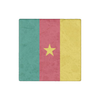 Cameroon Flag Stone Magnets