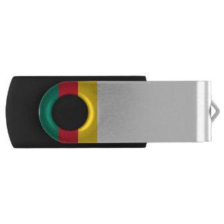 Cameroon Flag Swivel USB 2.0 Flash Drive