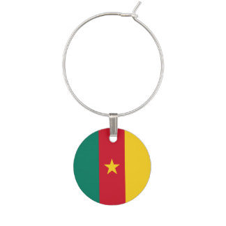 Cameroon Flag Wine Glass Charms