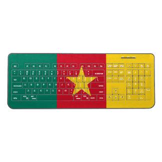 Cameroon Flag Wireless Keyboard