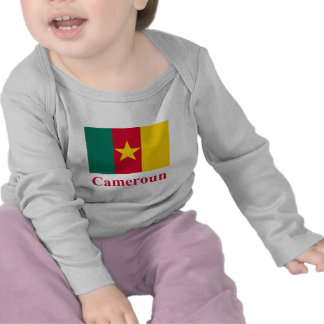 Cameroon Flag with Name in French Tee Shirts