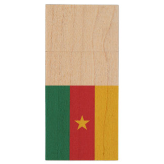 Cameroon Flag Wood USB 3.0 Flash Drive