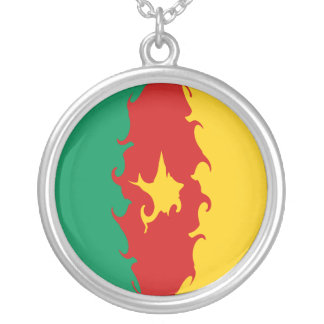 Cameroon Gnarly Flag Personalized Necklace