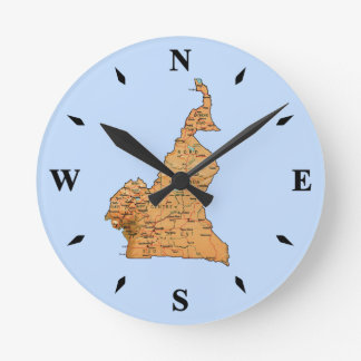 Cameroon Map Clock