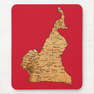 Cameroon Map Mousepad