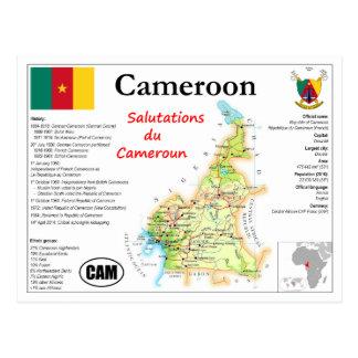 Cameroon map Postcard