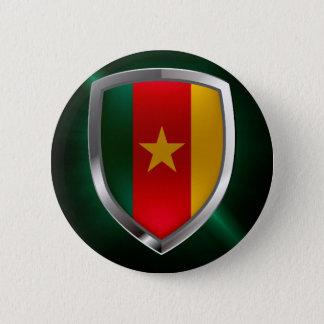 Cameroon Mettalic Emblem 2 Inch Round Button