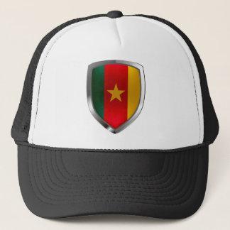 Cameroon Mettalic Emblem Trucker Hat