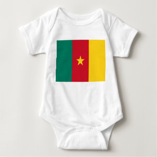 Cameroon National World Flag Baby Bodysuit