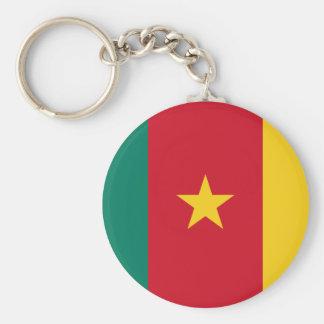 Cameroon National World Flag Basic Round Button Keychain
