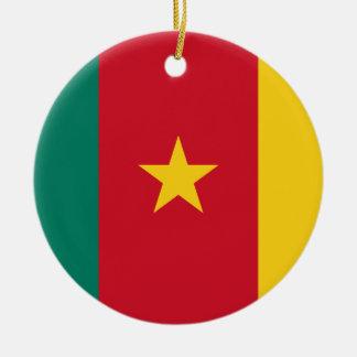 Cameroon National World Flag Ceramic Ornament