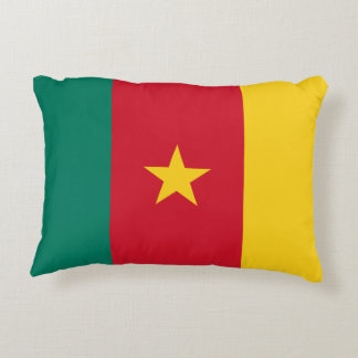 Cameroon National World Flag Decorative Pillow