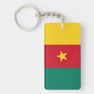 Cameroon National World Flag Double-Sided Rectangular Acrylic Keychain